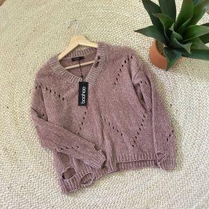 77364fb4e5f8 Boohoo Sweaters | Choker Vneck Oversized Sweater Sm | Poshmark